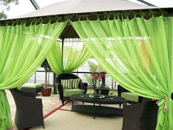 18 способов создать шторы для беседок и веранд: из ткани, бамбука, прозрачного ПВХ.   Красивый Дом и Сад