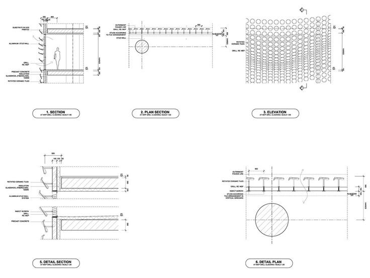 Ceramic Cladding Detail / Central Embassy / Amanda Levete Architects
