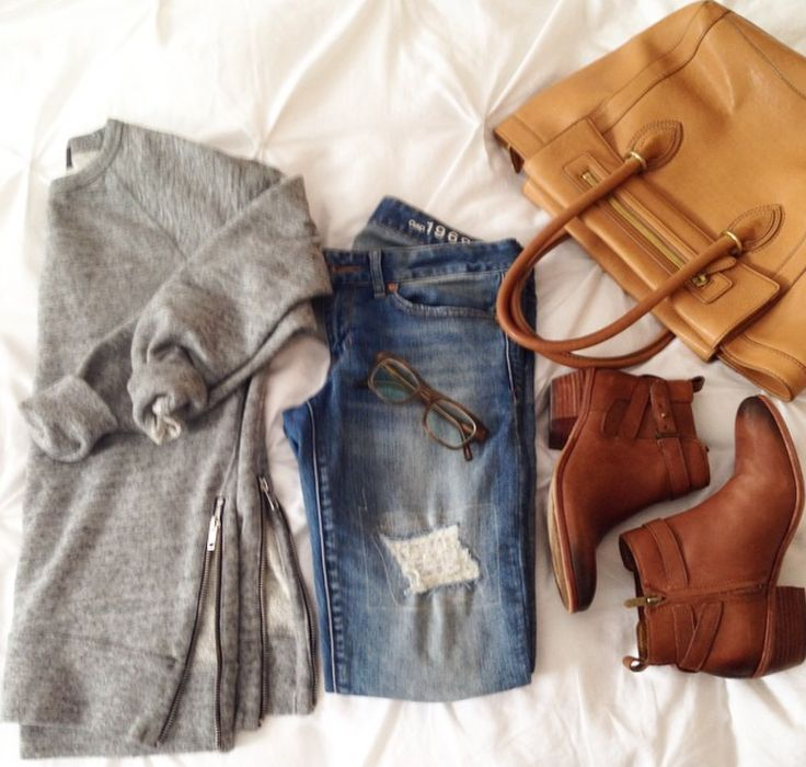 Casual on the go weekend wear.