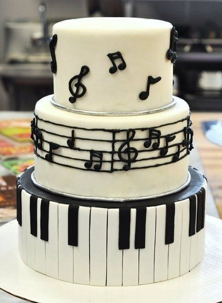 Cake Design Musical Notes : Music themed cakes, Themed cakes and Piano cakes on Pinterest