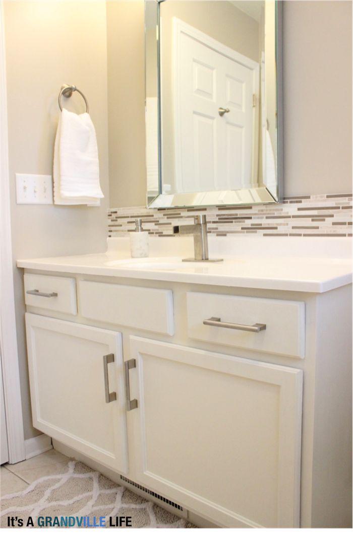 diy bathroom backsplash
