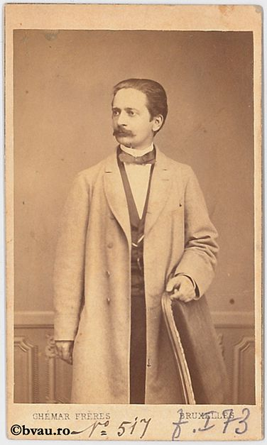 """N. Negură : Medic, 1866. Imagine din colecțiile Bibliotecii """"V.A. Urechia"""" Galați."""
