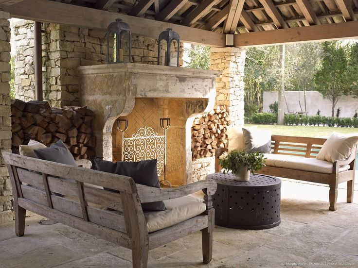 17 best images about outdoor bbqs fireplaces on for Outdoor rooms with fireplaces
