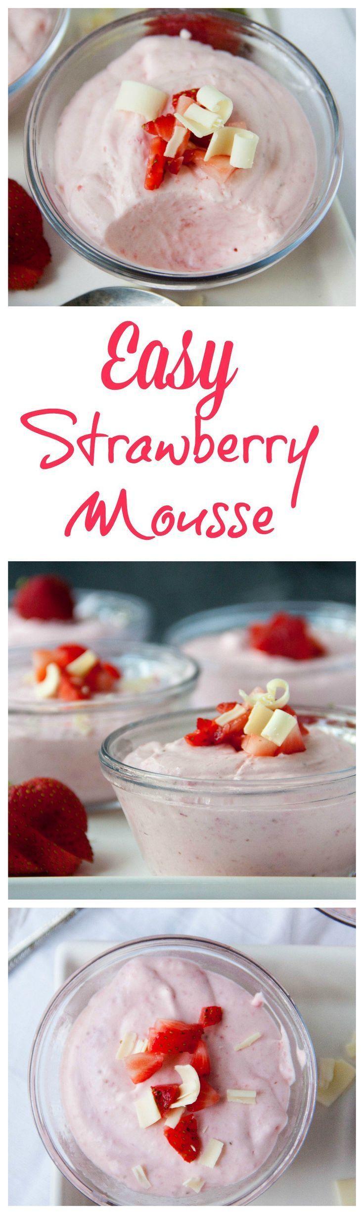 Easy Strawberry Mousse - Boston Girl Bakes