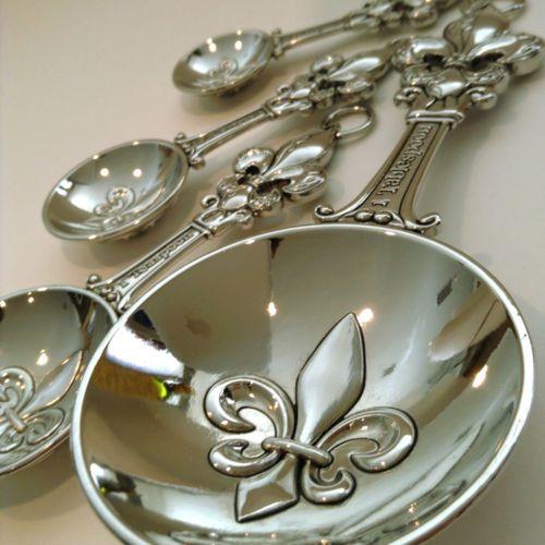 Fleur de lis measuring spoons sold by little joe blow ind - Fleur de lis measuring spoons ...