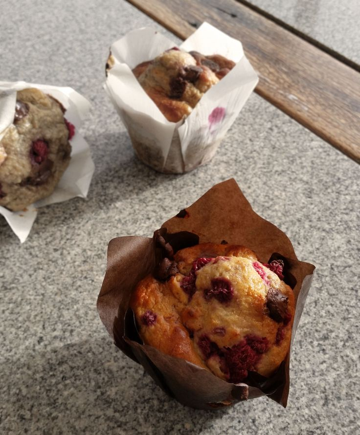 Banana Berry Muffins, adapted from my favourite banana bread recipe... and they are kind of healthy too!