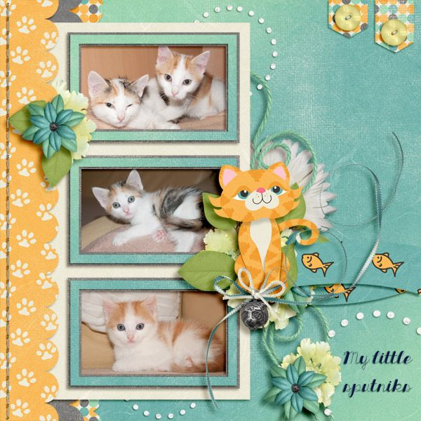 My little sputniks  Template PrettyInPictures by LissykayDesign http://www.gottapixel.net/store/product.php?productid=10015589&cat&page=1 Scrapkits Captured by KeystoneScraps http://www.gottapixel.net/store/product.php?productid=10007851&cat=&page=1 and MiniTiger by PrettyInGreen Photos by kpmelly