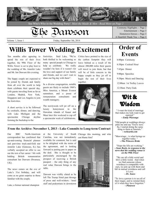 1000  images about wedding  u0026 engagement newspaper