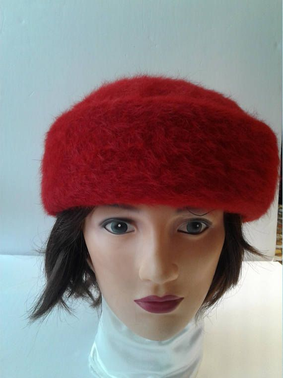 Women's Angora Hat Cool Hats Red Berets Vintage Hats