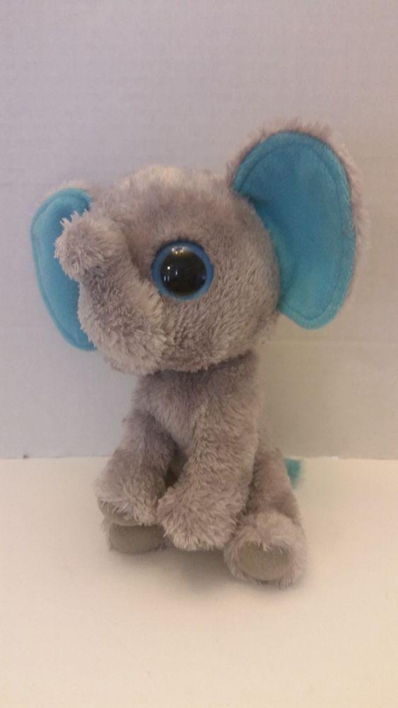 Ty Beanie Boos Peanut The Elephant Solid Eye Color 6