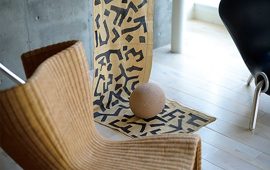 MARC NEWSON's FURNITURE with: Bushoong Raffia Cloth (Congo)