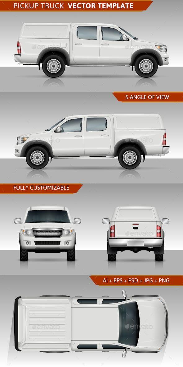 Pickup Truck Vector Template Pickup Trucks Trucks Chevy Trucks Older