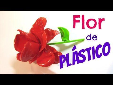 92 best images about con cucharas de plastico on pinterest - Flores de plastico ...