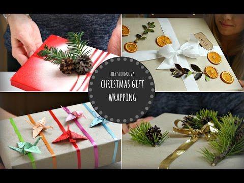 Balení vánočních dárků | Christmas gift wrapping | Lucy&Theodora - YouTube