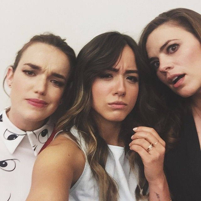 In most beautiful English sandwich. || Elizabeth Henstridge, Chloe Bennet, Hayley Atwell
