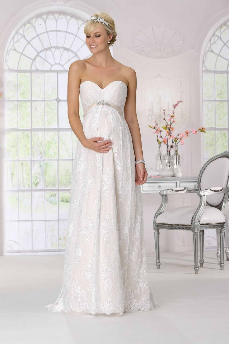 explore pregnancy wedding dresses