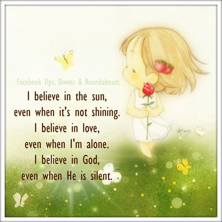 Love alone is believable