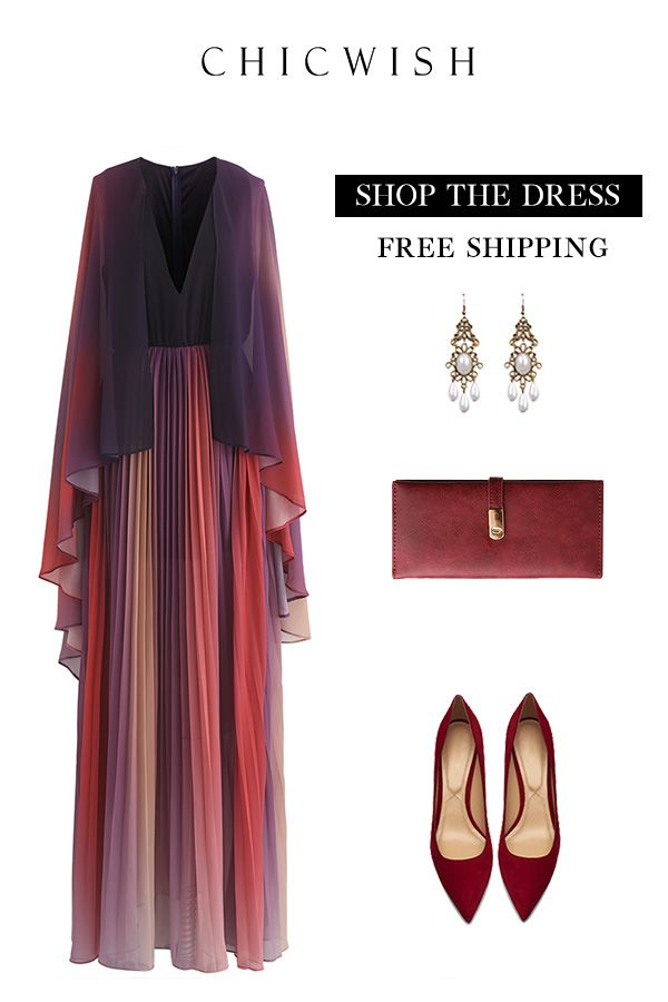 Free Shipping   Easy Return. Up to 30% Off. Broadcast Your Elegance  Gradient Pleated Maxi Dress. Shop for the cutest dress at chicwish.com. c06ba3c12