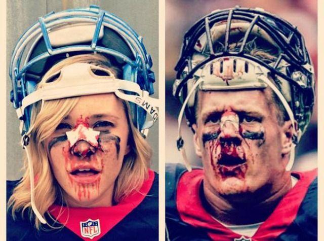 Happy Halloween - JJ Watt Costume?  Love it.  Can you tell which one is J.J. Watt? (Twitter.com/RumorsandRants)