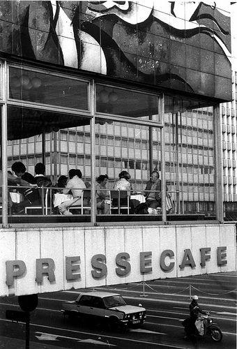 Pressecafe, Haus des Berliner Verlages, Karl-Liebknecht-Strasse, east Berlin, 1980s