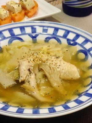 圧力鍋でとろとろ生姜でポカポカ★手羽先の中華スープ レシピ・作り方 by yunachi 楽天レシピ