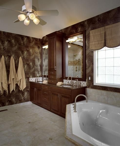 New Cherry Wood Cabinets In A Dark Stain Heated Floors New Shower Design With