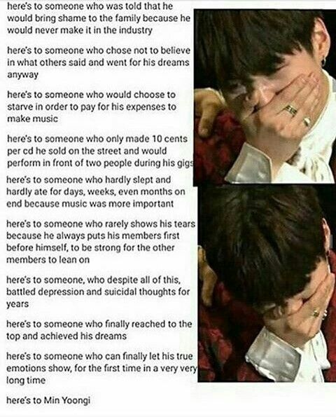 We got you Yoongi. Never be afraid of your thorny paths. Keep your head high. It's just the height of your career. ❤️섀넌