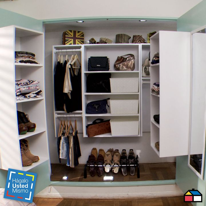 C mo hacer de un closet un walk in closet - Como hacer muebles de cocina ...