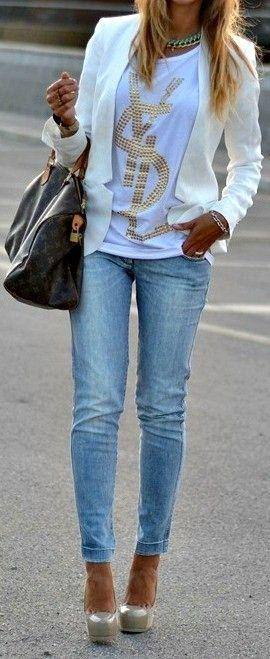 ♥Cute outfit. #fashion #style #denim