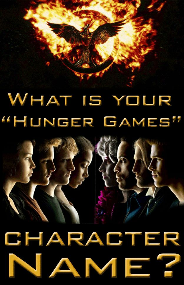 "What Is Your ""Hunger Games"" Character Name  *mines Portia Oakwell"
