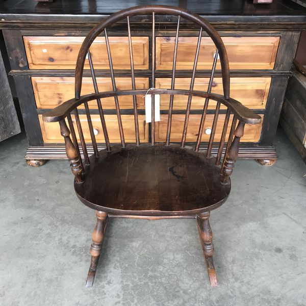 Antique Windsor Rocking Chair Nichols, Furniture Lake Elsinore
