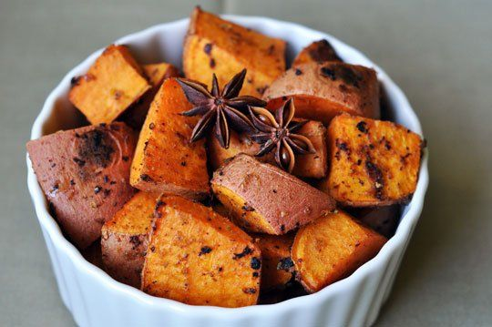 Sweet Potatoes with Star Anise, Ginger, and Lime