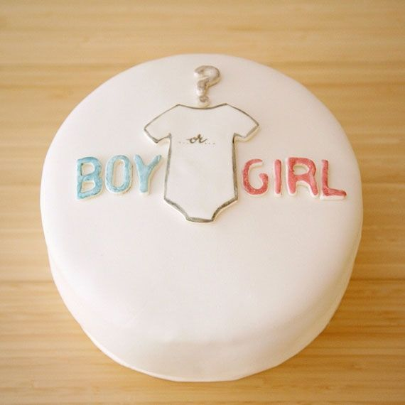 Gender reveal cake: Shower Ideas, Cakes Ideas, Gender Reveal Parties, Pink Cakes, Blue Cakes, Girls Cakes, Gender Reveal Cakes, Parties Cakes, Baby Shower