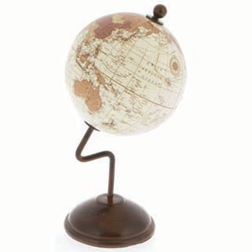 World Globe on Stand - 15cm - White | Milan Direct