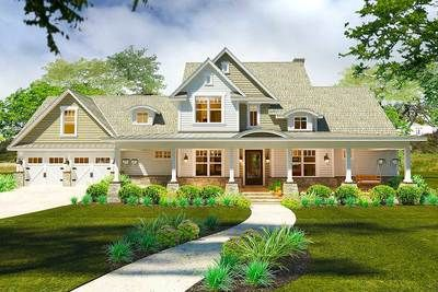 Plan 16889WG: Rockin' Farmhouse With Bonus Room