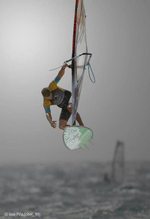 Windsurfing-He is good like this.