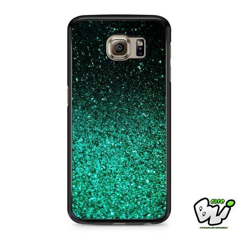 Green Glitter Samsung Galaxy S6 Case