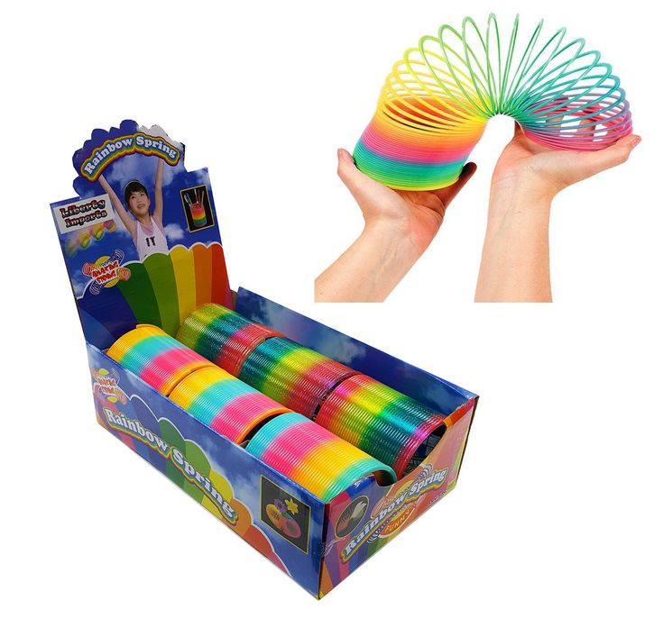 Giant Magic Rainbow Springs Bulk Party Favors, 4-inch (Set of 6)