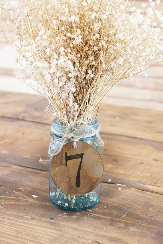 antiqued kraft table numbers . 10 primative country barn rustic wedding table numbers montanasnow