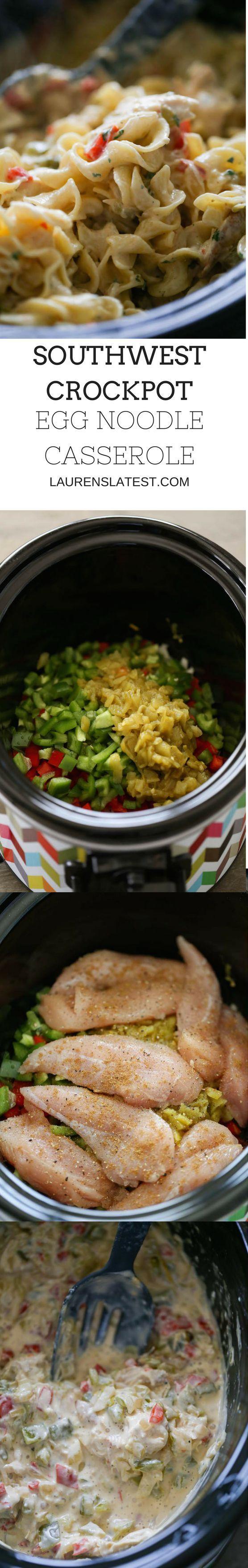 Southwest Crockpot Egg Noodle Casserole