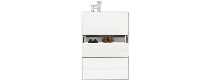 "Fermo Shoe Cabinet  H43¾xW30½xD12¾"" Modern Hallway Furniture - Contemporary Hallway Furniture - BoConcept"