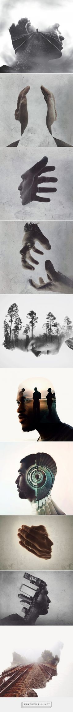 // NUUN | BERLIN // Double Exposure Portraits by Brandon Kidwell | Inspiration Grid | Design Inspiration - created via http://pinthemall.net #NuunBerlin #InternationalArt #ArtNouveau #ArtVenture