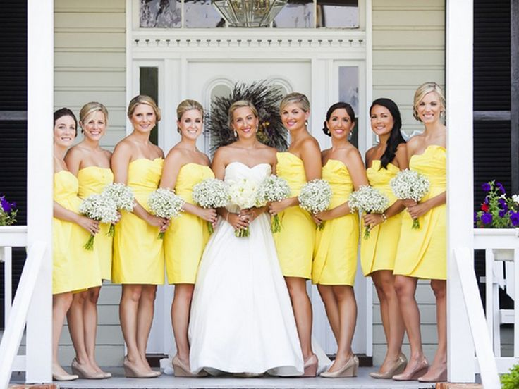 Yellow Bridesmaids Dresses | Nancy Anderson Cordell Photography