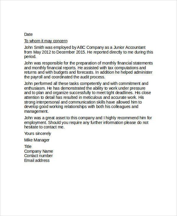 Reference Letter Coworker Elegant Sample Reference Letter For
