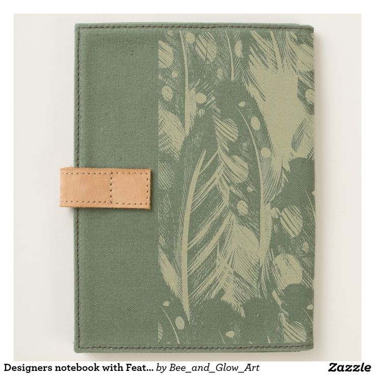 Designers notebook with Feathers