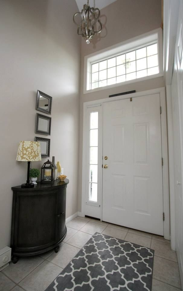 Entry way in town house ~ Wall color {Litchfield Gray} by ...