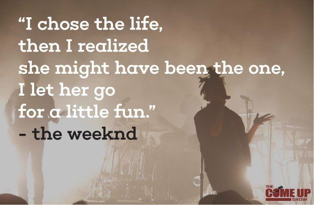 The 20 best weeknd quotes http://www.quotezine.com/the-weeknd-quotes/ #theweeknd #quotes
