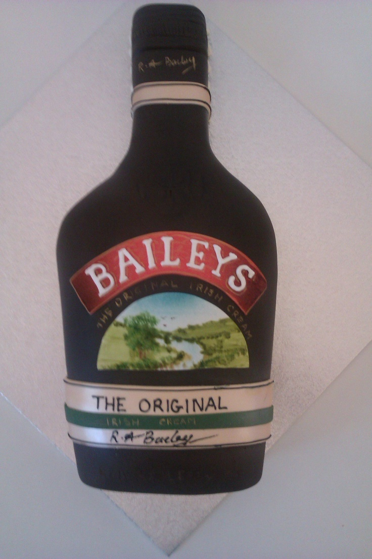 Baileys Bottle Shaped Novelty Cake Novelty Cakes