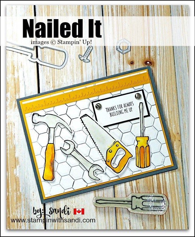 Nailed It Bundle card 2 by Sandi @ stampinwithsandi.com