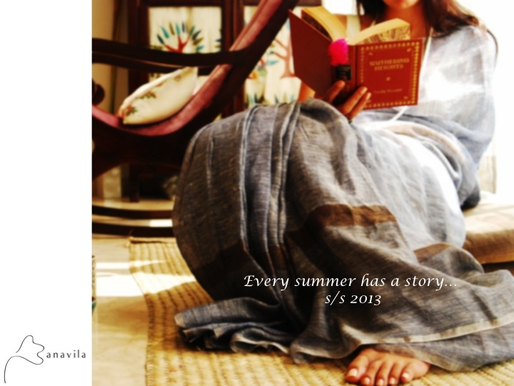 S/S 13 collection , handwoven linen sarees !!!